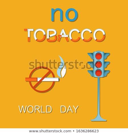 Mundo não tabaco dia cartaz semáforo Foto stock © robuart