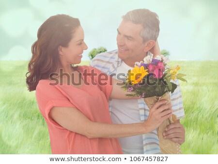 Сток-фото: пару · цветы · луговой · цифровой · композитный