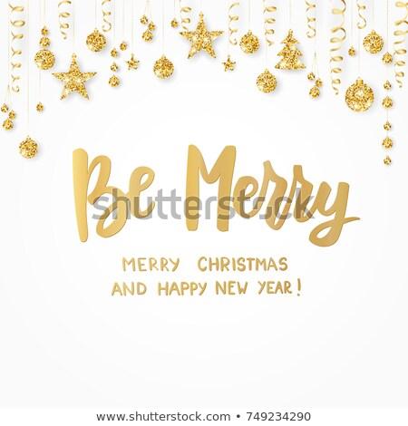 Stockfoto: Vrolijk · christmas · goud · schitteren
