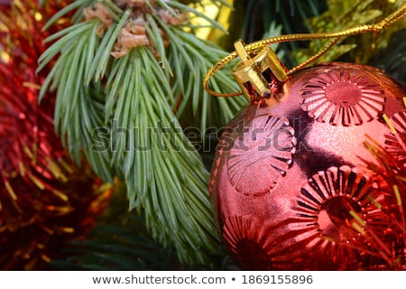 white gift box merry christmas and new year greeting card design stock photo © sgursozlu