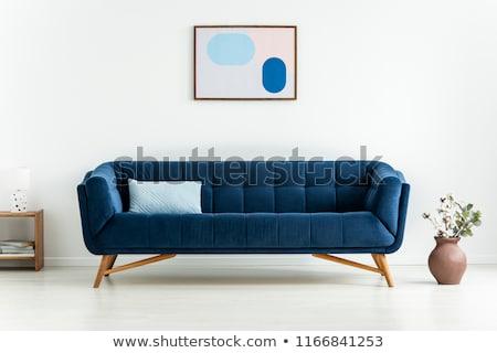 Modern blue sofa or couch furniture Stock photo © vapi