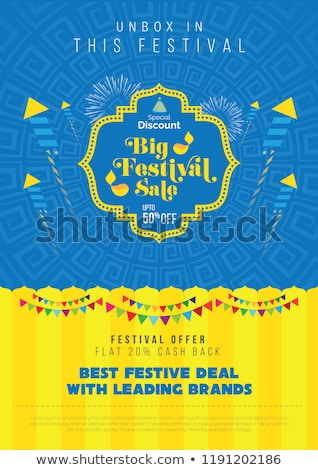 abstract big diwali festival sale banner design stock photo © sarts