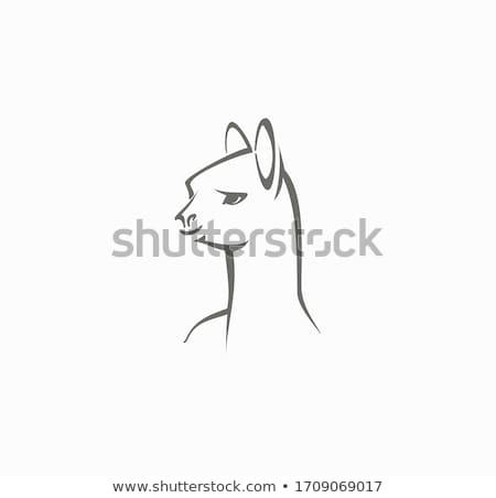 レトロな ラクダ シルエット ロゴ 砂漠 にログイン ストックフォト © barsrsind