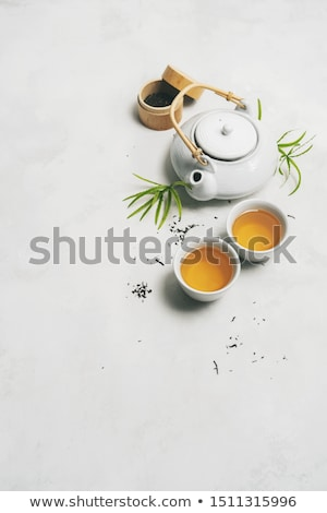 Japanese tea and chopsticks Stock photo © karandaev