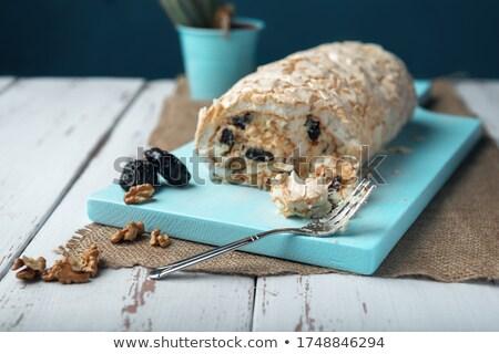 Tatlı gıda tahta tablo doku arka plan Stok fotoğraf © zurijeta