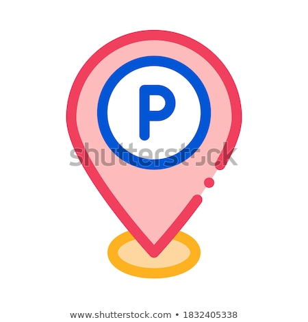 Parking Geolocation Icon Vector Outline Illustration Stock photo © pikepicture