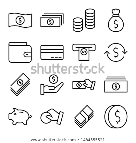 Valuta dollar uitwisseling icon vector schets Stockfoto © pikepicture