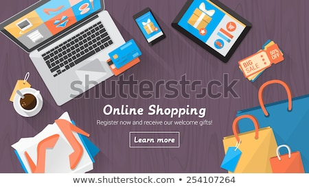 Online Advertisement, Laptop with Website and User Stock photo © robuart