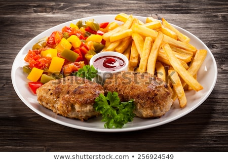 Mięsa wieprzowina stek nadziewany ser Zdjęcia stock © hamik