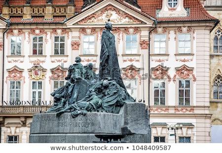 Prag kare seyahat mimari heykel Stok fotoğraf © manfredxy