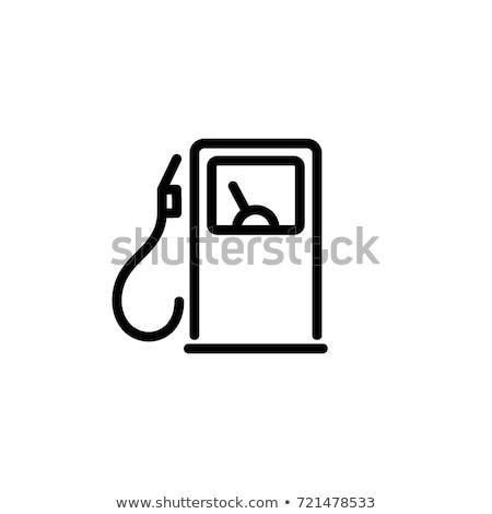 Tankstation icon vector schets illustratie teken Stockfoto © pikepicture