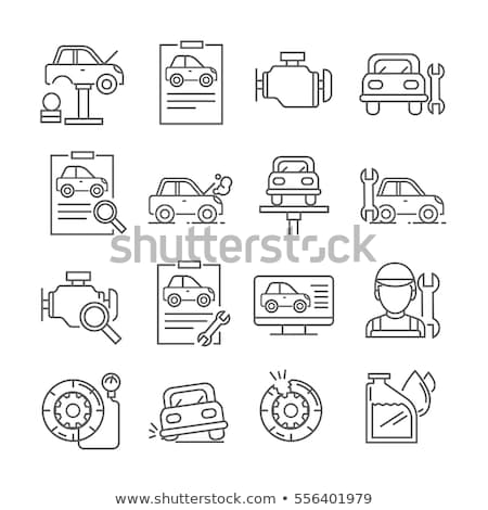 manual car wash icon vector outline illustration Stock photo © pikepicture
