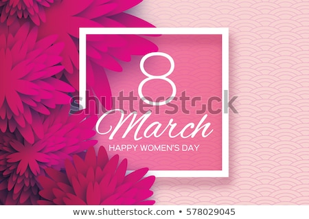 Ladies Day Holiday Cards with Origami Flowers Stock photo © robuart