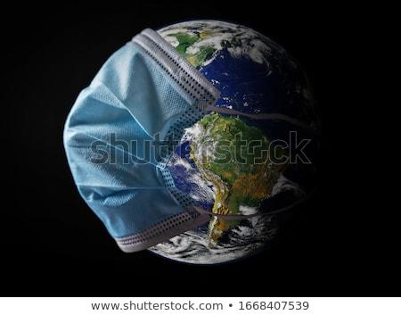 View of Earth with corona virus Stock photo © olira