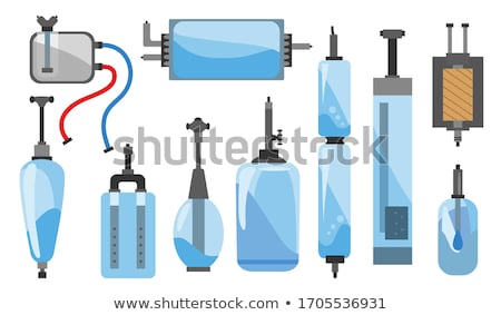 Flat vector icon of water filter. Color and sketch style. Water filter at home component for clean w Stock photo © designer_things