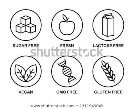 Set Essen einfache schwarz Symbole Lactose Stock foto © evgeny89