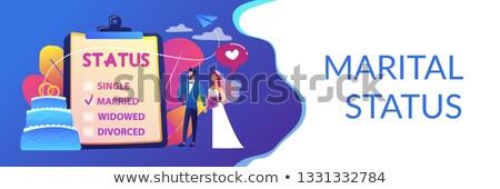 Kapcsolat állapot szalag fejléc házaspár házastársi Stock fotó © RAStudio