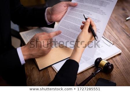 Kobiet adwokat sala sądowa sprawiedliwości Zdjęcia stock © snowing