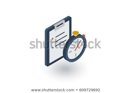 Cronógrafo icono vector signo color Foto stock © pikepicture