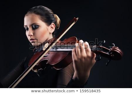 Violín orquesta arte concierto silueta sonido Foto stock © m_pavlov
