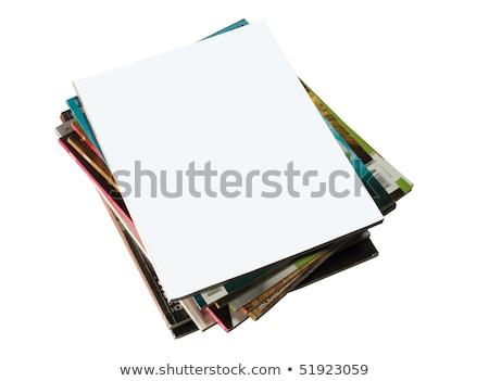 Dergiler kapak eski yalıtılmış beyaz Stok fotoğraf © stokato