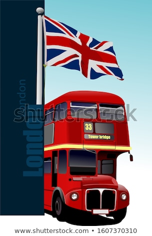 cover for brochure with london images vector illustration stock photo © leonido