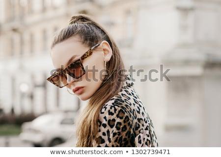 Stok fotoğraf: Moda · model · hayvan · baskı · güzel · seksi