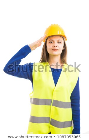 A construction worker saluting. Stock photo © photography33