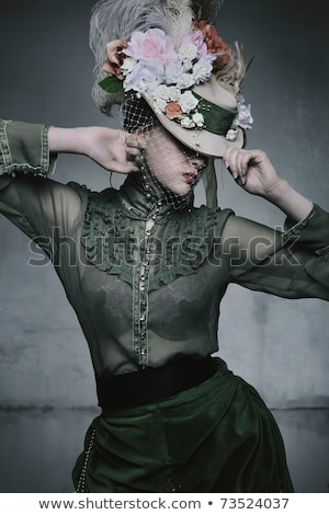 Woman wearing old fashioned dress Stock photo © photography33