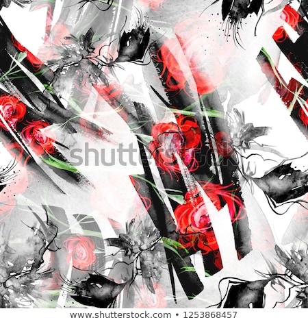 vibrante · aumentó · brote · Bush · Rose · Red · flor - foto stock © cherju