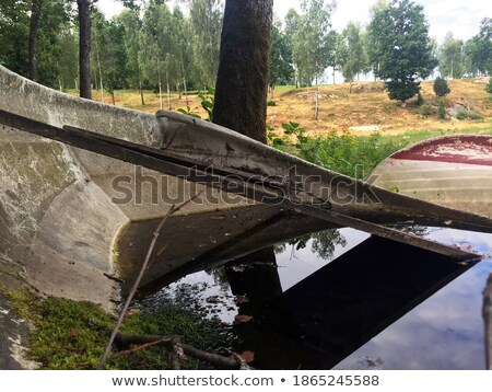 Oude rot hout wal meer veel Stockfoto © pzaxe