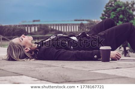 деловая женщина полу волос обувь комнату Сток-фото © photography33