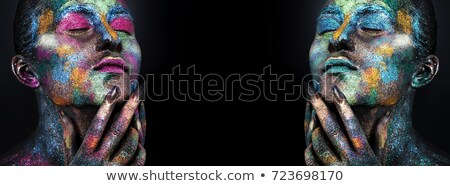 bodypainted faces Stock photo © prill