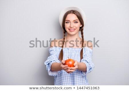 mulher · batom · vermelho · sensual · moda - foto stock © photography33