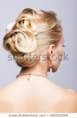 the blond with jewellery stock photo © carlodapino