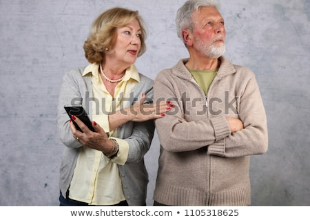 Stock photo: Couple looking angry