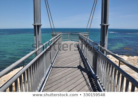 Platform with lookout over Indian Ocean Stock photo © roboriginal