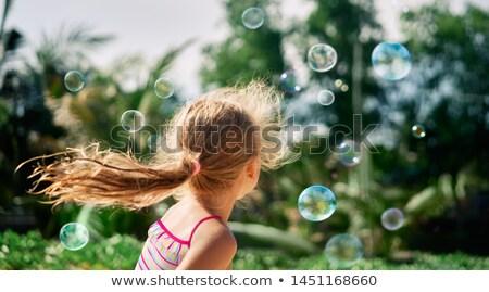 blond · meisje · grijs · shirt · witte · mode - stockfoto © acidgrey