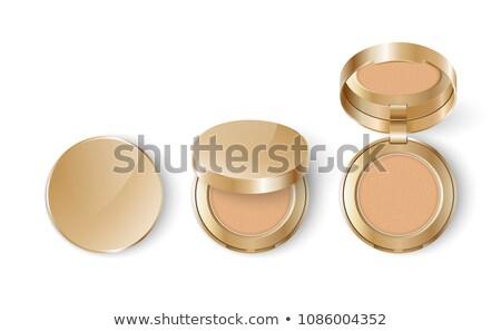 Kompakt kozmetikai por izolált fehér arc Stock fotó © shutswis