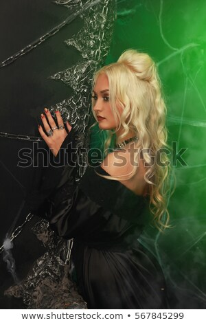 blonde vampire woman stock photo © nailiaschwarz