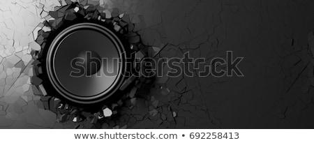 Ilustração 3d alto-falante mídia objetos discurso Foto stock © kolobsek