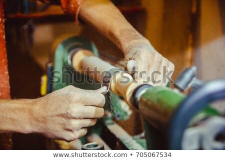 Artesano madera oficina trabajo arena herramientas Foto stock © photography33