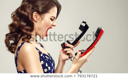 two young beautiful woman are screaming Stock photo © Pasiphae