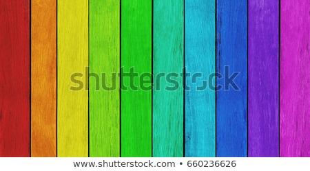 Cukorka csíkos fa deszkák festett fal Stock fotó © Snapshot