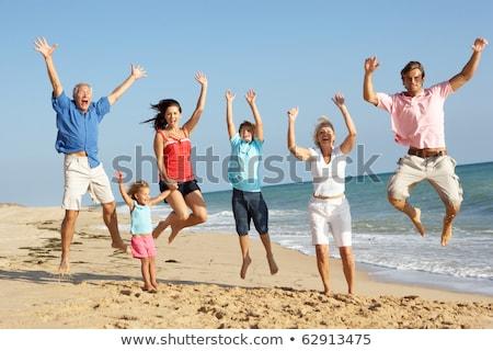 Nino aire playa cielo sonrisa feliz Foto stock © meinzahn