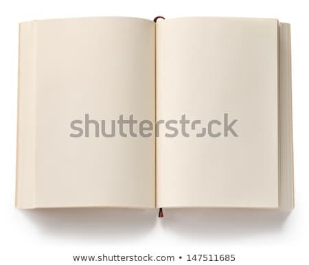 Kinyitott könyv könyvjelző közelkép fotó izolált Stock fotó © kyolshin