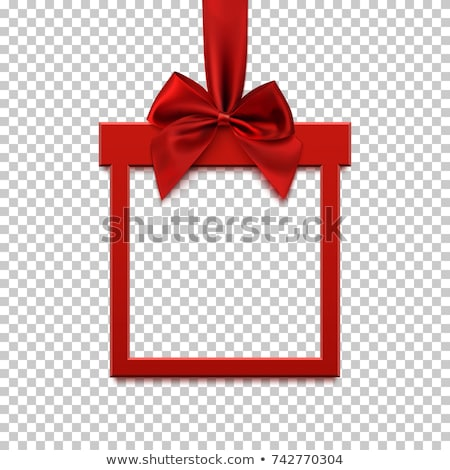 invitation and greeting card with red ribbon Stock photo © illustrart