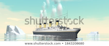 Titanic boat by sunset - 3D render Stock photo © Elenarts
