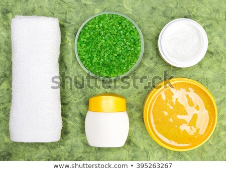 Yellow Coarse Sea Salt in Container  Stock photo © tab62