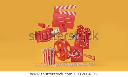 3D 映画 眼 映画 映画 赤 ストックフォト © Alegria111